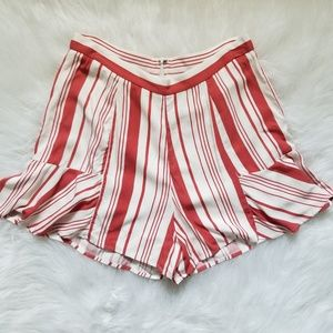 NWOT Minkpink Stripe Fluted Shorts Medium